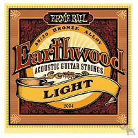 Ernie Ball 2004 Earthwood 80/20 Bronze Light Acoustic Guitar Strings 11-52 6 Set