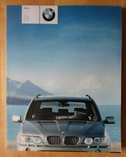 BMW X5 Gama 2002 2003 Reino Unido MKT Prestige 106 página folleto de ventas - 3.0i 4.4i 4.6iS