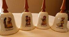 4 Hummel Bells - Each bell is ivory color with oak wood handles