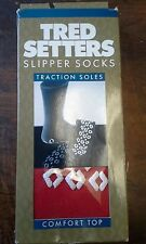 Tred Setters - Slipper Socks - Red - Comfort Top