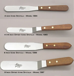 """Ateco Cake Decorating ICING SPATULA Offset & Straight 4, 6, or 8"""" inch"""