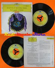 LP 45 7'' SVJATOSLAV RICHTER Rachmaninoff 5 preludes germany DEUTSCHE cd mc dvd