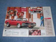 1972 Oldsmobile Cutlass Supreme Convertible Resto-Mod Article