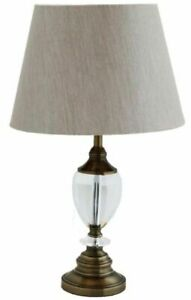 Windsor Antique Brass Table Lamp with K9 Crystal