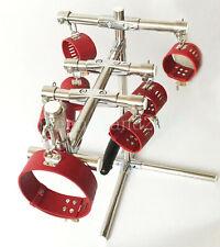 Stainless Steel frame Spreader Bar rack Slave Hand Ankle Collar Cuffs Restraint
