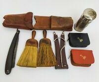 Vintage Men's Shaving Grooming Lot Gillette Razors Colegate Stick Brushes Travel