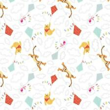 Springs Creative Fabric Winnie The Pooh & Friends Flying Kites White HALF METRE