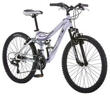 Mongoose R3577 Girl's Maxim Full Suspension Bicycle 24-Inch in Purple New