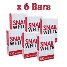 SNAIL White Soap Glutathione X10 Whitening Face Body Reduce Acne Anti Aging 70g