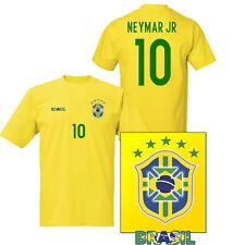 Neymar Brasil Polyester T-shirt Brazil football shirt kids & Adults shirt