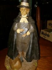 "80's Rare 1988 Tom Clark Hand Signed by Artist Figurine Pilgrim 12"""