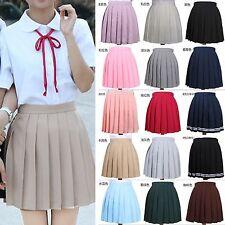 Girl High Waist Pleated Skirt Anime Cosplay School Uniform JK Student Mini Skirt
