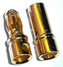 8023 RC ORO BANANA BULLET tappi connettori 3,5 mm 1 paio