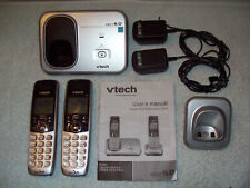 Vtech Model # Cs6319-2 Dect 6.0 Cordless Telephones Set Tested Works in Vguc
