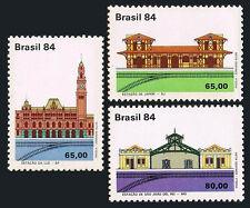 Brazil 1944-1946, MNH.Historic Railway Stations:Japeri,Luz,Sao Joao del Rei,1984