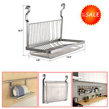 Stainless Steel Dish Drying Rack Drainer Counter Sink Space Movable Drain Board