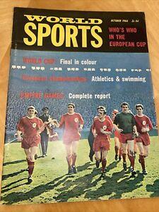 b/ WORLD SPORTS OCTOBER 1966 - LIVERPOOL/ ENGLAND WORLD CUP FINAL