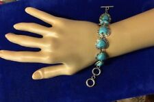 Fashion Silver Plated Blue Heart  Bracelet