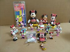 """< 00004000 span class=""""newly"""">New listing 21 Minnie Mouse Toy Figures Disney Tooysie Toy Bubble Bottle Music Box Watch Nip"""