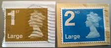 2 x USED GB 1ST & 2ND LARGE LETTER SECURITY MACHIN 2011 STAMPS MA11 MFIL