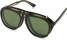 Gucci GG 0128 S- 005 Black/Green Sunglasses