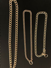 New listing Xl (26�-28�) Dog Collars Choke Gold Cuban Chain Dog Necklace Stainless Steel
