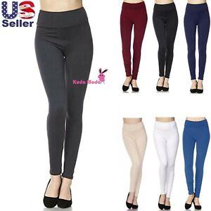 Women's 3 inch High Waistband Full Length Leggings For Yoga Casual Soft Slim Fit