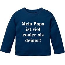 """Langarmshirt, Spruch """"Mein Papa ist viel cooler als deiner"""" 100% BIO Baumwolle"""