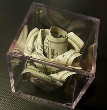 $100 Origami Money Rose In Display Cube