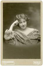 Julia Bartet, comédienne Vintage silver print.Jeanne Julie Regnault, dite Juli
