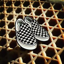 Black And White Vans Style Enamel Pin, Perfect For The Skater Dudes....