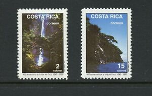 B953  Costa Rica  1992   waterfalls    2v.     MNH