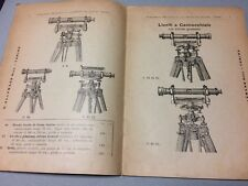 GEODESIA TOPOGRAFIA TEODOLITE LIVELLA STRUMENTI CATALOGO G.ALEMANNO TORINO 1904