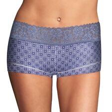 Maidenform Pure Genius Dream Cotton Lace Boyshorts Panty 40859 Blue 6M FREE S&H