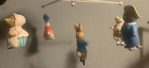 EDEN 1976 Beatrix Potter Musical Baby Crib Mobile 43555 Peter Rabbit & Friends