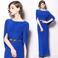 Women Formal Slim Side Slit Maxi Dresses Evening Party Cocktail Long Dress Royal