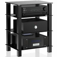 Media Component TV Stand Audio Video Cabinet Unit for Apple TV/Xbox One/PS4/Sky