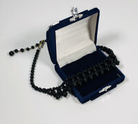 Vintage Necklace Choker Length French Jet Black Beads Hook Clasp Victorian Style