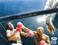 Earnie Shavers Signed 8x10 Photo vs Muhammad Ali - w Extensive Ali Quote PSA/DNA