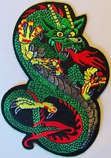 CHINESE DRAGON PATCH -  LARGE 6 INCH FIRE BREATHING - MOTORCYCLE VEST PATCH