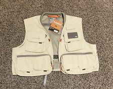 New listing Simms Free Stone fishing vest - Men's Size L - Putty Color - New