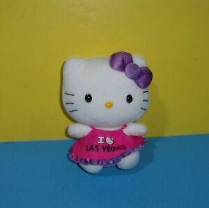 "TY Sanrio Beanie Baby Babies Hello Kitty I Love Las Vegas 6"" Bean Plush"