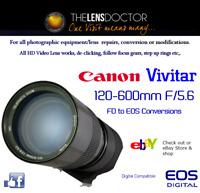 VIVITAR CANON F/5.6 EF +EF-S CONVERSION SUPERB WILDLIFE/SPORTS LENS QUALITY HD