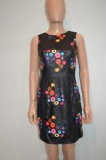 NWT Tanya Taylor Black/Floral Printed Leather Lira Sleeveless Dress Size 2 $995