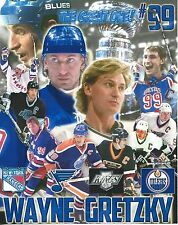WAYNE GRETZKY COLLAGE 8X10 PHOTO HOCKEY BLUES KINGS OILERS RANGERS NY PICTURE