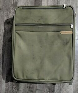 """Briggs & Riley 21"""" Olive Green  Rolling Carry-on Ballistic Nylon"""
