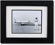 """Framed 8 x 10 Photo of R.A. """"Bob"""" Hoover with his Sabreliner - Aviation Gifts"""