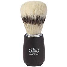 Omega 11712 Banded boar Shaving Brush Dark Ash Wood
