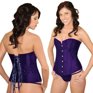 Angel Strapless Lingerie Lace Corset Bustier G String 3XL