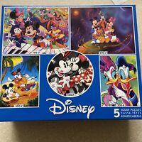 Disney 5 in 1 Jigsaw Puzzles, Minnie & Mickey Mouse, Donald Duck, 300-750 pc New